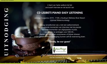 Uitnodiging Launch CD Lisibiti Piano Easy Listening